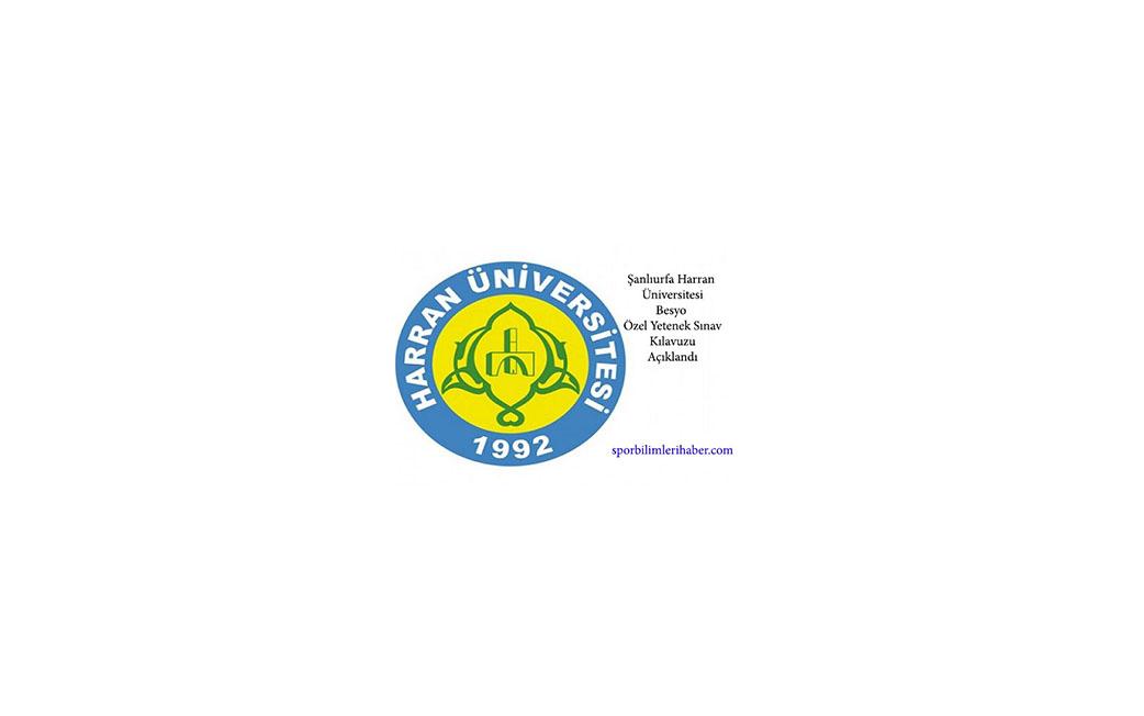 Şanlıurfa Harran Üniversitesi Besyo