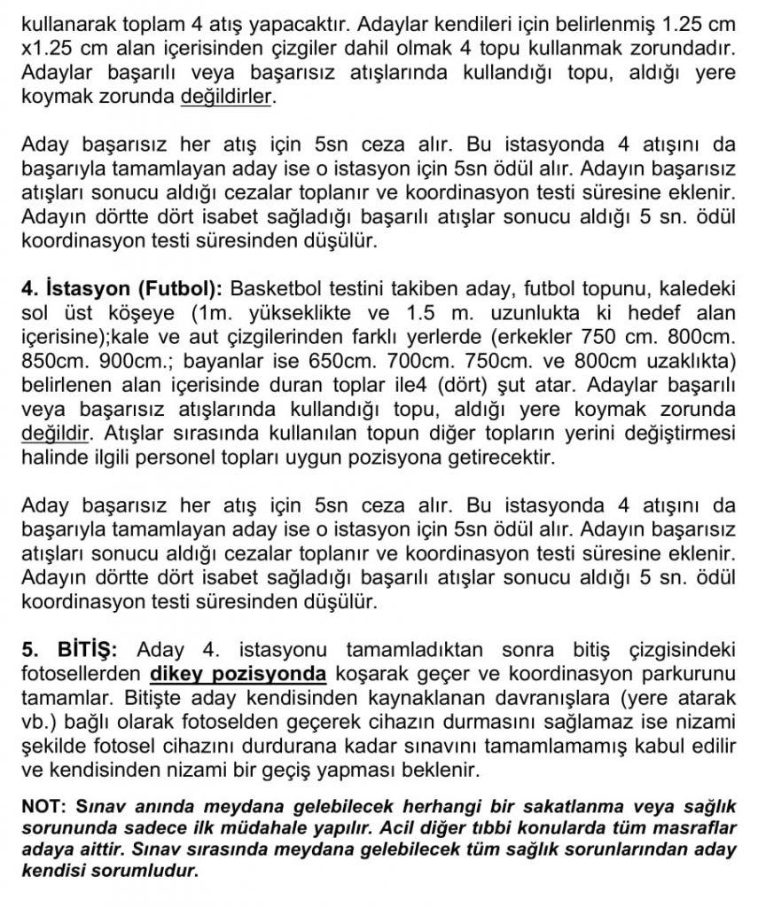 Amasya Üniversitesi Beden Eğitimi Öğretmenliği Bölümü Özel Yetenek Sınavı
